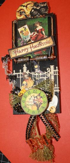 Altered Mouse Trap --cute way to make use of the clock face from my broken clock. this was created by @Mary Powers Powers Powers Walker