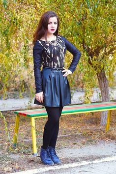 Спідниця зі штучної шкіри та камуфляжний світшот | BurdaStyle.ua: Мода, Дизайн, Рукоділля, Викрійки