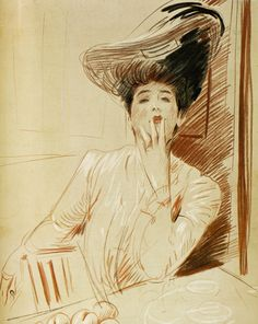 Portrait by Paul César Helleu