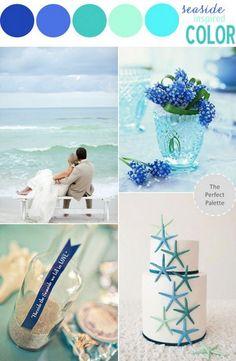 Blue Sea Beach Wedding Color Theme
