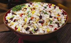 Ρύζι με σταφίδες, κάσιους και καλαμπόκι