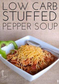 Stuffed Pepper Soup - the low-carb version with all of the flavor and no bad carbs. Super yummy!