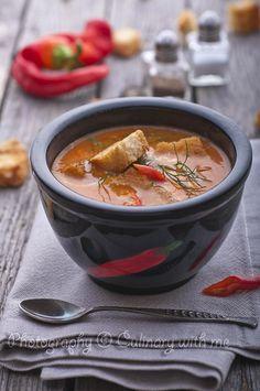 Крем супа с печени чушки и джинджифил/Grilled pepper pottage with ginger - Culinary with me