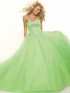 Sweetheart Sleeveless Floor-length Tulle Prom Dress / Ball Gowns #prom dress #fashion #sleeveless
