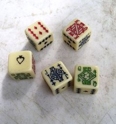Vintage Poker Dice are the perfect table-top pastime. ♠♠♠ www.poker24.pl