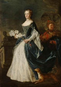 Marie Leszczynska, Queen of France, 1730, by Alexis Simon Belle (1674-1734)