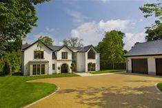 Sona have just finished an installation in this beautiful house for Huntsmere, i. - Sona have just finished an installation in this beautiful house for Huntsmere, in Wilmslow, Cheshir - 1930s House Exterior Uk, Stone Exterior Houses, Dream House Exterior, Dream House Plans, Dream Houses, Nice Houses, House Exteriors, Square House Plans, House Plans South Africa