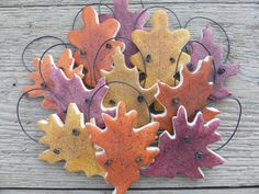 Autumn Leaves Fall Wedding Favors Salt by cookiedoughcreations, $17.95
