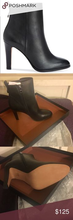 NWT. COACH JEMMA LEATHER BOOTS. ORIGINAL PACKAGE COACH JEMMA BLACK LEATHER BOOTS. BRAND NEW. ORIGINAL PACKAGING. SIZE 7M. Coach Shoes Heeled Boots