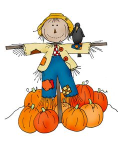 Free Dearie Dolls Digi Stamps: Colored Friendly Scarecrow 2