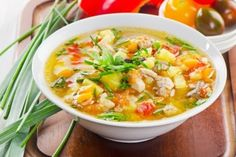 Caldo de Pollo is a chicken soup that is easy to make, freezes well, and a delight to the senses. Even more, chicken soup reduces inflammation. So healthy! Homemade Chicken Soup, Chicken Soup Recipes, Healthy Soup Recipes, Healthy Snacks For Kids, Social Feed, Turkey Vegetable Soup, Soups And Stews, Stuffed Peppers, Cooking
