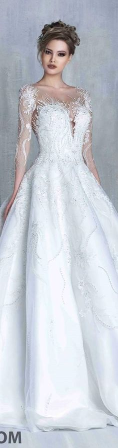 Tony Chaaya bridal 2016Love the sleeves and bodice!