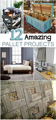 12 Amazing DIY Pallet Projects.