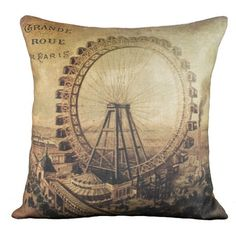 Love the vintage whimsy of this carnival pillow!  :)