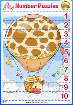 FREE Number Puzzles - Preschool Printables for Kids - Learning Numbers, Counting - Fun Math Activities and Worksheets for Homeschooling by BonTon TV - Besplatne Puzzle za zabavno učenje brojeva od 1 do 10 - Matematika, Brojanje do 10 Fun Math Activities, Toddler Learning Activities, Kids Learning, Free Preschool, Preschool Printables, Preschool Ideas, Numbers For Kids, Numbers Preschool, Number Puzzles