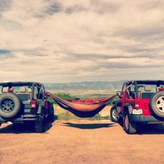 Jeeps + hammock + summer + view. Everything about this picture is awesome