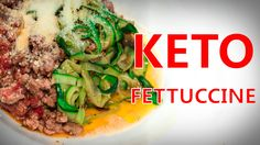 HOW TO MAKE KETO PASTA - ZUCCHINI FETTUCCINE