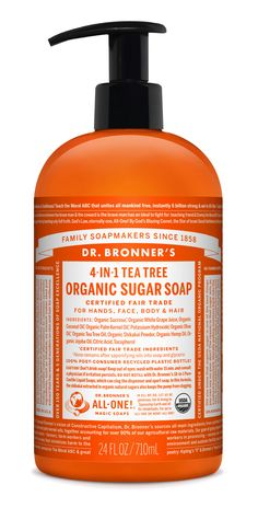 31e2c348ca859b Dr. Bronner s Tea Tree Organic Sugar Soap  Sweet to the body and planet!
