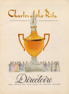 Directoire by Charles of the Ritz Perfumes, 1951.