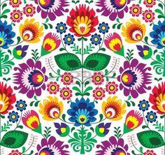 Seamless patr�n tradicional polaco floral - el origen �tnico photo