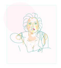 Illustration woman frau julia feller