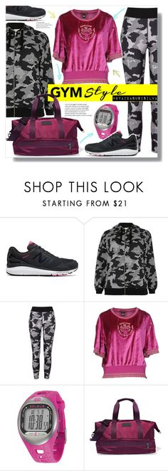 """Work It Out: Gym Essentials"" by aidasusisilva ❤ liked on Polyvore featuring New Balance, River Island, Roberto Cavalli, Soleus, adidas and gymessentials"