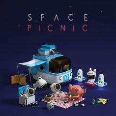 """다음 @Behance 프로젝트 확인: """"Space Picnic"""" https://www.behance.net/gallery/56140121/Space-Picnic"""