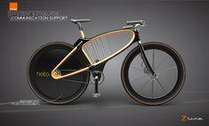 Z-line_Company bike concept by Pierre FRANCOZ, via Behance
