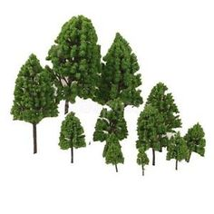 details about 12pc multi scale trees model train war game diorama scenery layout ho oo n z