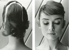 Audrey hepburn 1950s classic high ponytail