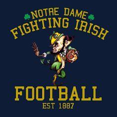 Go Irish, Fighting Irish, Notre Dame, Comic Books, Football, Comics, Futbol, American Football, Comic Book