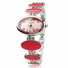 Tanboo Alloy Band Quartz Bracelet Watch For Women by Tanboo. $9.99. Women's Watche. Casual Watches. Bracelet Watches. Gender:Women'sMovement:QuartzDisplay:AnalogStyle:Bracelet WatchesType:Casual WatchesBand Material:AlloyBand Color:PinkCase Diameter Approx (cm):3.1Case Thickness Approx (cm):0.5Band Length Approx (cm):19.7Band Width Approx (cm):1.8