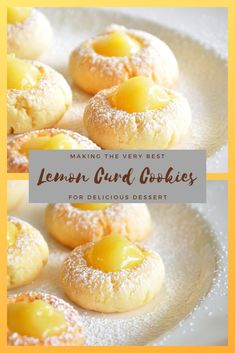 Easy Recipe Lemon Curd Cookies For Healhty Dessert, Cookie Recipes Lemon Desserts, Lemon Recipes, Köstliche Desserts, Healthy Desserts, Lemon Curd Dessert, Recipes Using Lemon Curd, Spanish Desserts, Mexican Desserts, Holiday Desserts