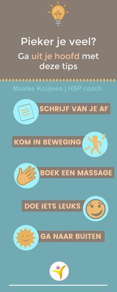 Tips bij piekeren voor HSP #hoogsensitief #hooggevoelig #hsp #coaching #hspcoach #sensitief