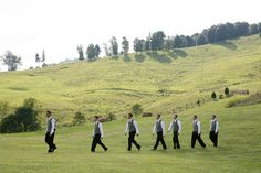 Great picture of the entering the ceremony--gorgeous wedding, outdoors Bridal Parties, Great Pictures, Groomsmen, Countryside, Backdrops, Dolores Park, Outdoors, Amazing, Nature