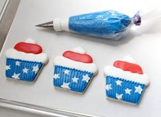 COOKIES and CUPS, with just a little Fourth of July flair.