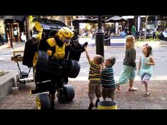 Have you seen this #video? Human #transformer street car performs for kids... Really cool! :)