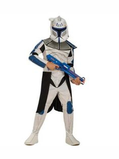 Rubies Star Wars Clone Wars Clone Trooper Captain Rex Child Costume- -- Star Wars is back and better than ever with tons of great options to choose from for Halloween Costumes. Check out this star wars costume and all of our others! Star Wars Halloween, Kids Star Wars Costumes, Costume Star Wars, Rex Costume, Great Halloween Costumes, Boy Costumes, Halloween Fancy Dress, Halloween Kids, Costume Ideas