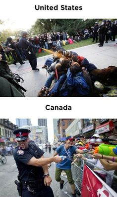 funny United States vs Canada cops on imgfave Meanwhile In Canada, Nostalgia, I Am Canadian, Canadian Humour, Moving To Canada, Lol, Just For Laughs, That Way, Funny Photos