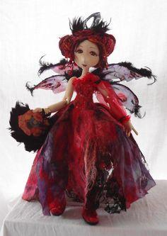 Nuno Felted Flower Fairy. $175.00, via Etsy.