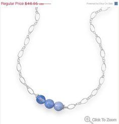 NOW ON SALE Sterling Silver Chain Necklace with Just Beachy Fire Agate Beads