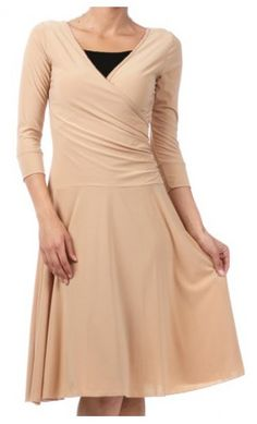 Plus Size Wrap Dress - worn with TeeNeck Cleavage Cover Apostolic Clothing 694f467eb