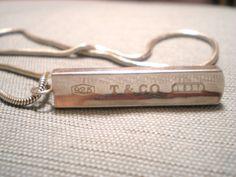 Tiffany & Co Sterling Silver Bar Classic Classy by renew2u on Etsy