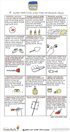 'How To: 15 Super-Practical Uses for Petroleum Jelly.' (via WonderHowTo) Vaseline Beauty Tips, Beauty Tips For Skin, Diy Beauty, Skin Care Tips, Beauty Hacks, Beauty Secrets, Beauty Skin, Benefits Of Vaseline, Vaseline Uses