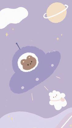 Cute Pastel Wallpaper, Soft Wallpaper, Bear Wallpaper, Cute Patterns Wallpaper, Aesthetic Pastel Wallpaper, Cute Anime Wallpaper, Wallpaper Iphone Cute, Wallpapers Kawaii, Cute Cartoon Wallpapers
