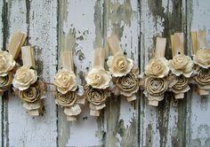 Shabby Chic avorio mollette decorativo rustico di ilovethis