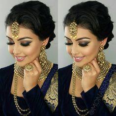 Makeup: Mona Sangha … Makeup: Mona Sangha … desi bridElegant Makeup For IndianNew Makeup Looks For Sout Indian Makeup Face, Indian Wedding Makeup, Asian Bridal Makeup, Indian Wedding Hairstyles, Bridal Hair And Makeup, Bride Makeup, Hair Makeup, Indian Bridal Hair, Indian Party Makeup
