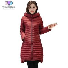 Plus Size 5XL 2017 Autumn and Winter Women Coat Medium long Hooded Down Cotton Jacket Fashion Warm Jacket Coat TNLNZHYN E25 #Affiliate