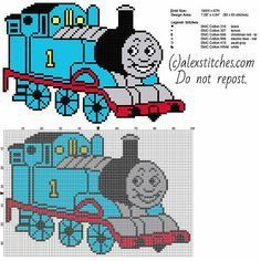Thomas the Tank Engine and Friends free cross stitch pattern full figure