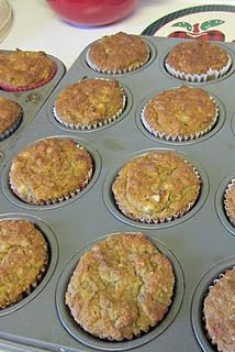 Banana Nut Muffins! One of the best paleo muffins recipes I've found. I add a box of raisins and use cocunut oil instead of olive oil. I also used 2 cups of walnuts instead of 1!
